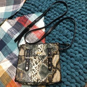 Kate Landry Crossbody Purse Python Print Bag Snake